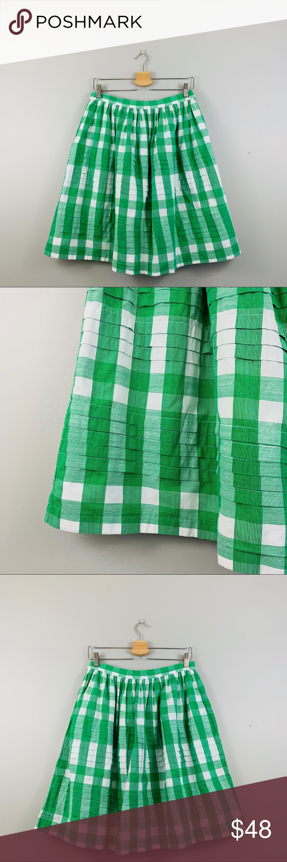 Tommy Hilfiger | Green Plaid Tiered Skirt