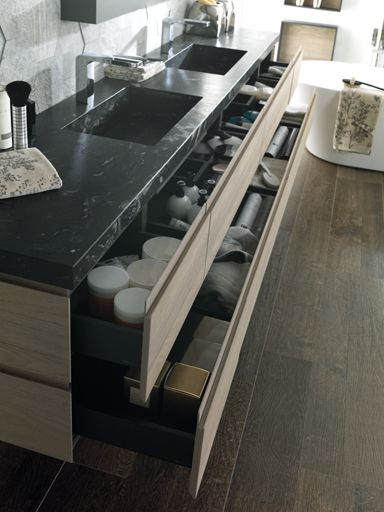 #Cersaie2015: Leaf and Log, purity and minimalism in Gamadecor #bathroom furniture  #Porcelanosa bath #design #InteriorDesign