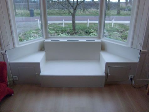 witte bank in erker 1 for the home pinterest bay window
