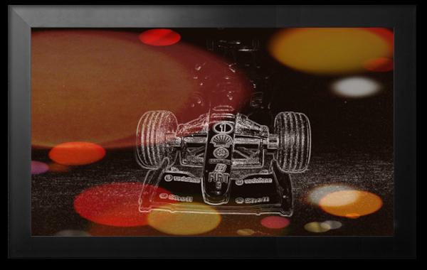 Ferrari F1 Frontside - Handel von Foto Kunst