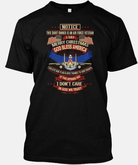 Air Force Veteran I Say Merry Christmas T shirt Hoodie Women