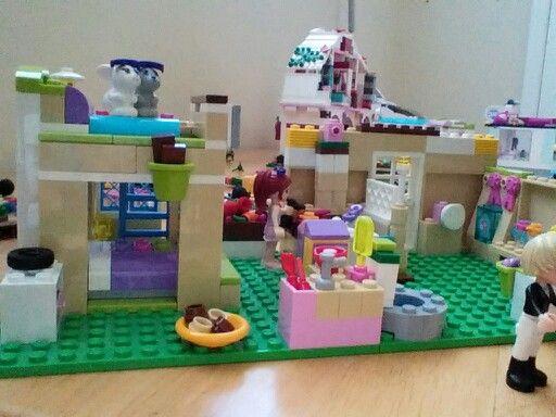 My Own Creation A Bunkbed Kitchen Bathroom Lego Room Legos Lego Friends