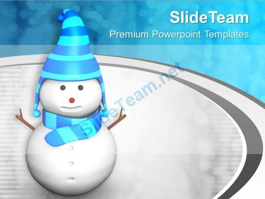 Snowman On Stylish Background PowerPoint Templates PPT Themes And - winter powerpoint template