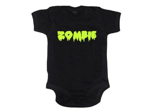 92b096d74 Black Zombie Print Bodysuit