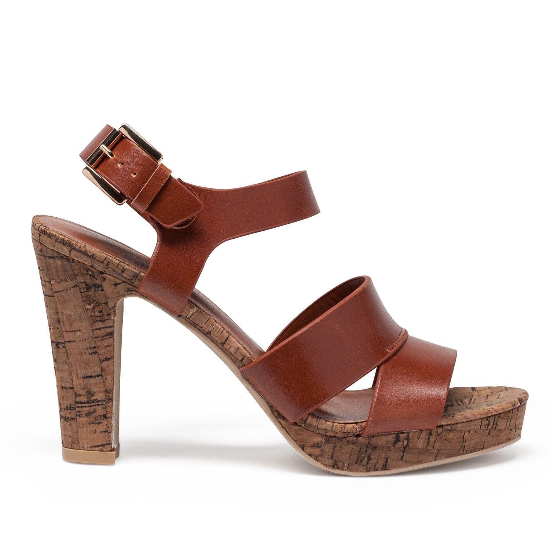 sandales à talon semelle liège | nami | pinterest | liège, gémo et