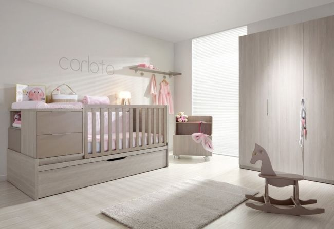 eichenholz m bel babyzimmer m dchen sanft rosa limba. Black Bedroom Furniture Sets. Home Design Ideas