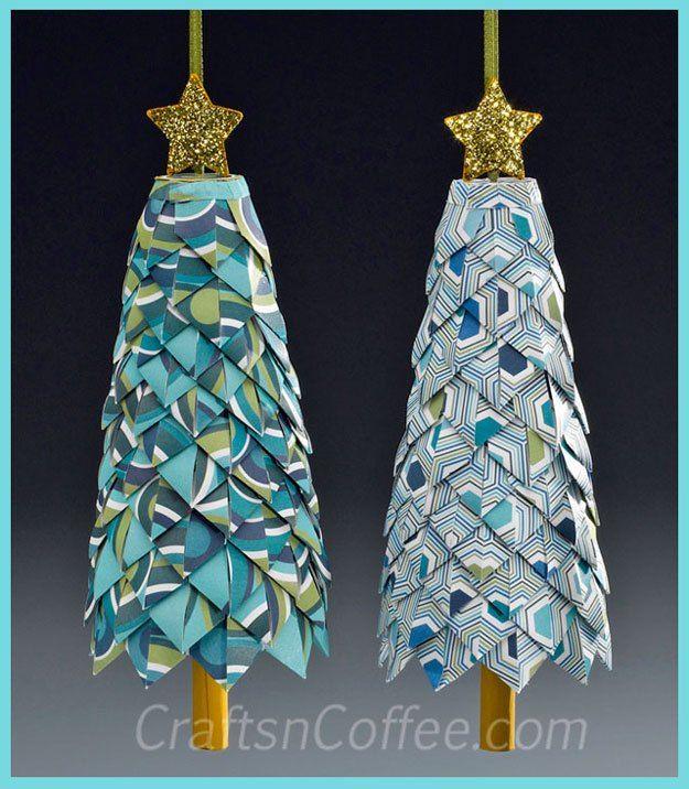 A natale preferiti carta piegata ornamenti pigna for Ornamenti casa