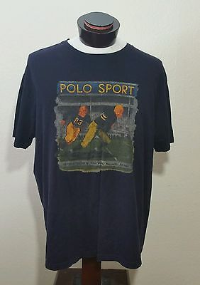 95dcb2e2b8a Vintage 90's Polo Sport Ralph Lauren Stadium Rugby Football Crewneck XL  Shirt