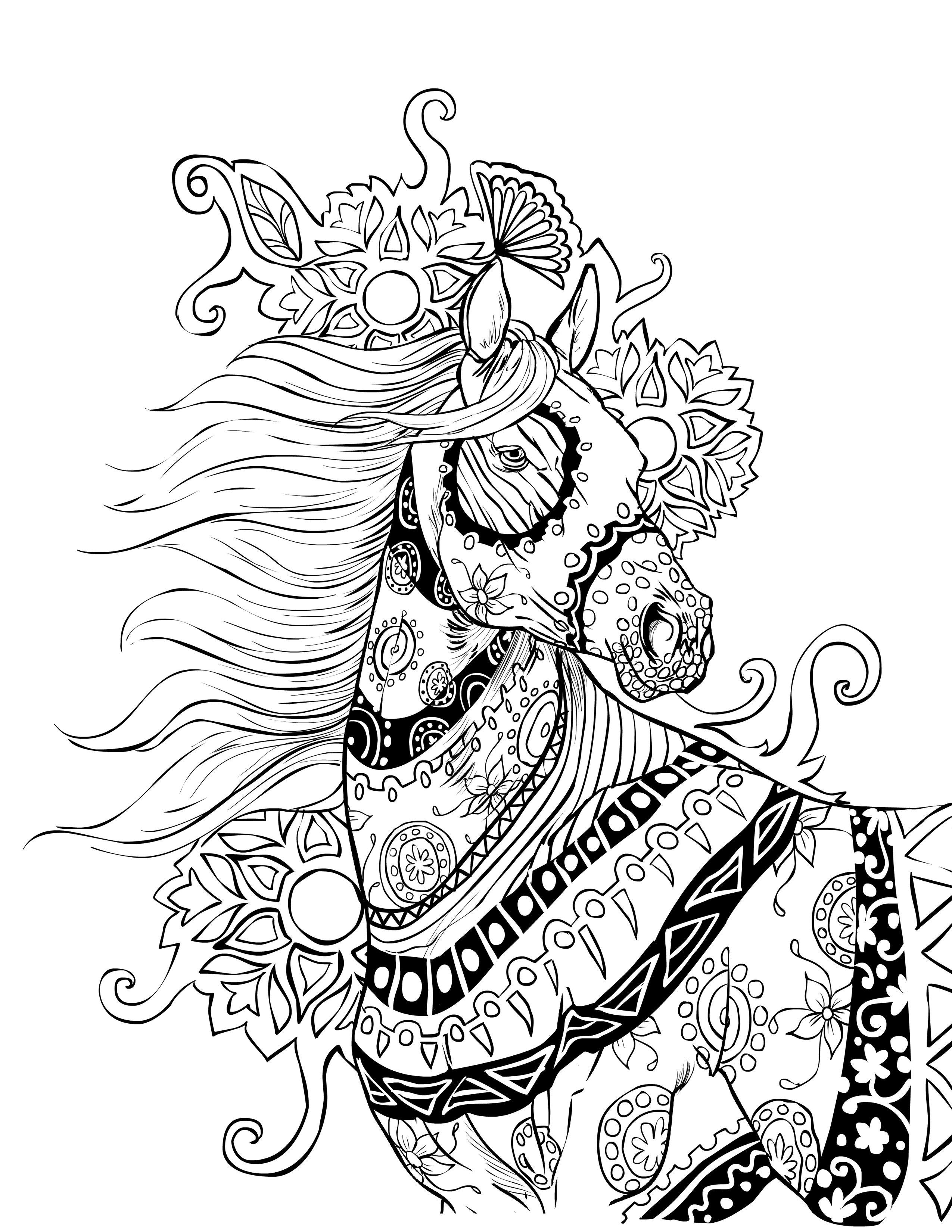 Horse coloring page selah works proyectos de dibujos pinterest