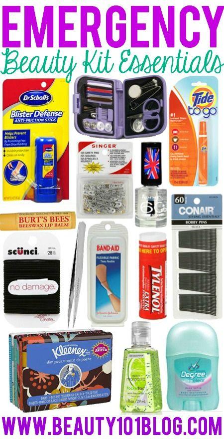 Diy Emergency Beauty Kit Beauty 101 Blog Beauty Pinterest