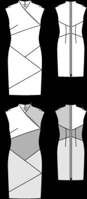 Etuikleid - Asia-Stil