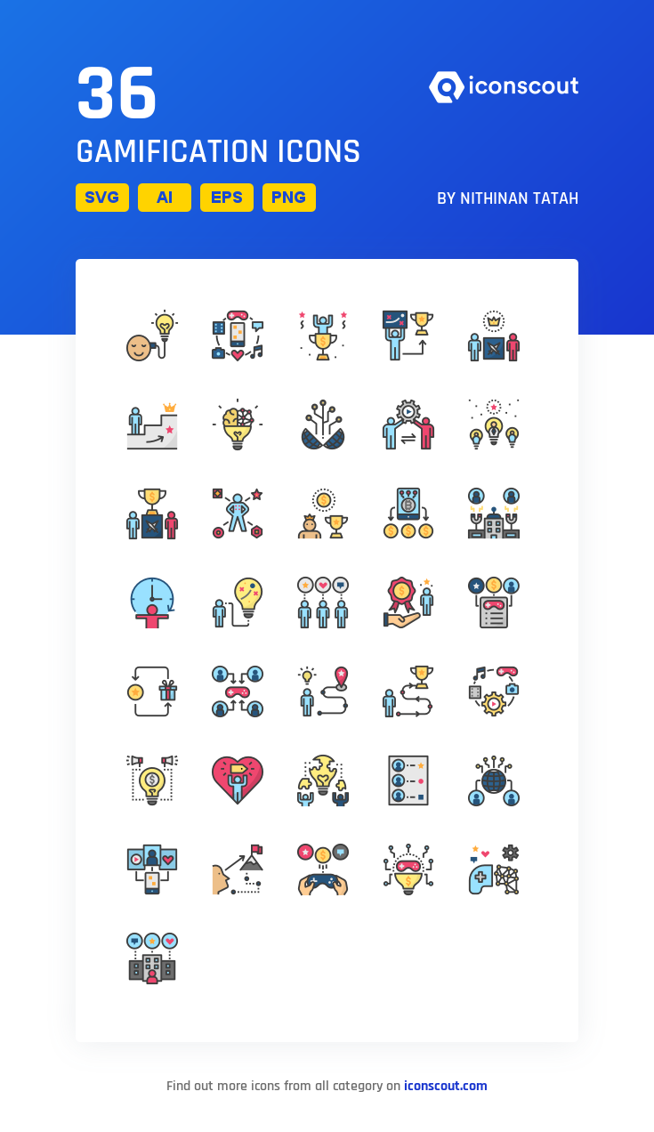 Download Download Gamification Icon pack - Available in SVG, PNG ...