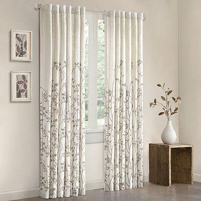Madison Park Tunisia 84 Inch Window Curtain Panel In White White