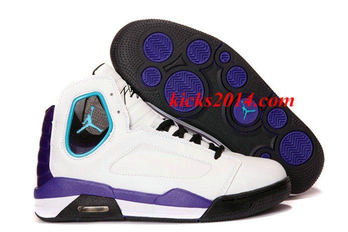 Nike Air Jordan Flight Luminary Mens Shoes White Purple Womens Shoes 2014 4711