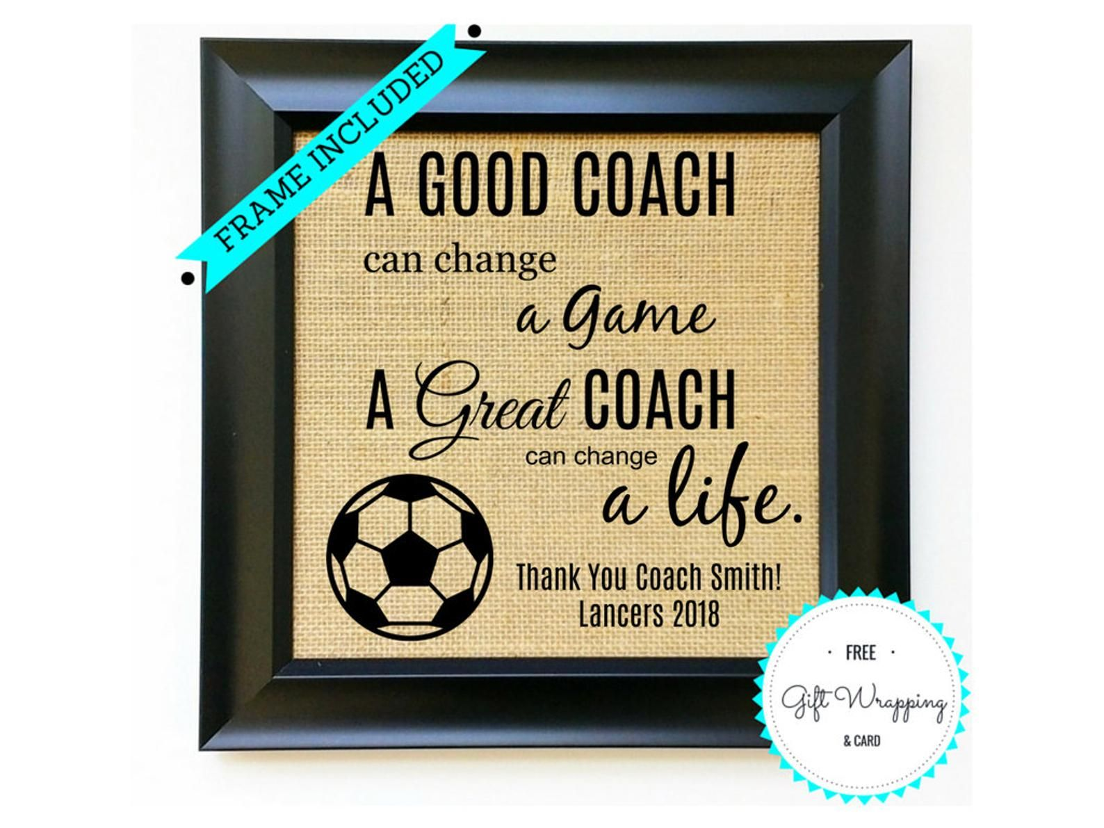 Soccer Coach Gift Ideas From Team Soccer Coach Gifts Etsy Soccer Coach Gifts Coach Gifts Soccer Coach Quotes