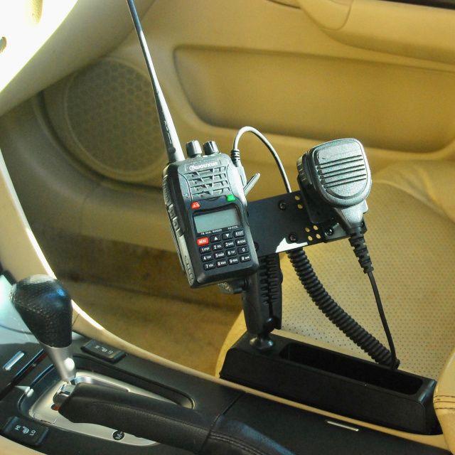 LM-Wedge Ham Radio Car Console Wedge Mount Ham Radio Handheld