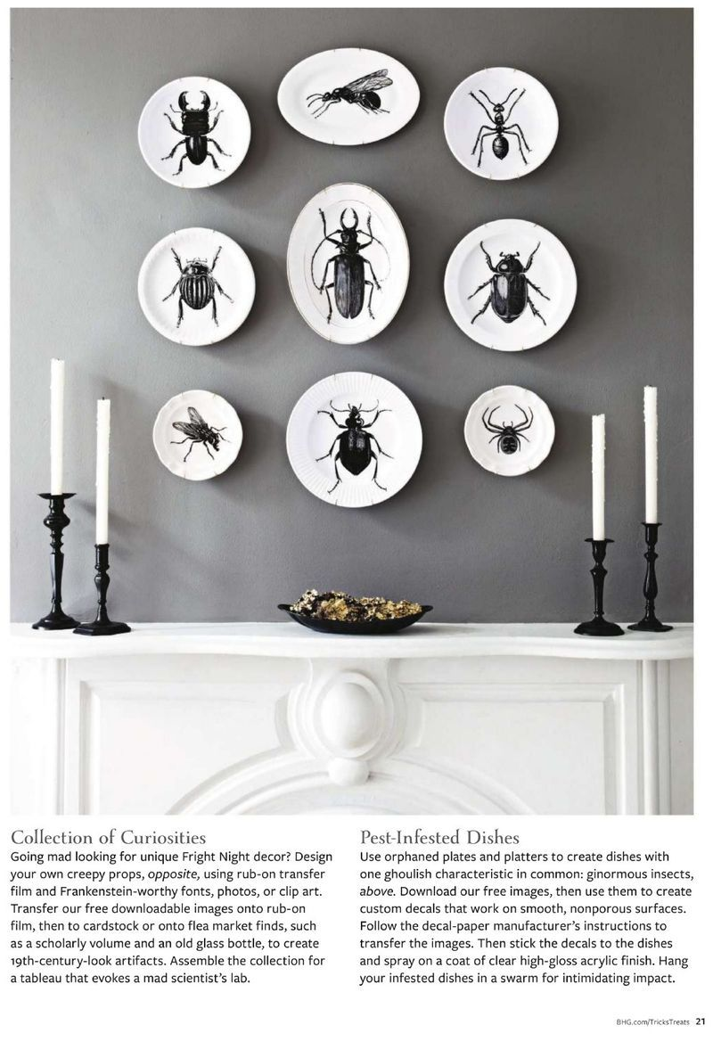 bug plates doom and gloom for bhg halloween tricks and treats urban comfort