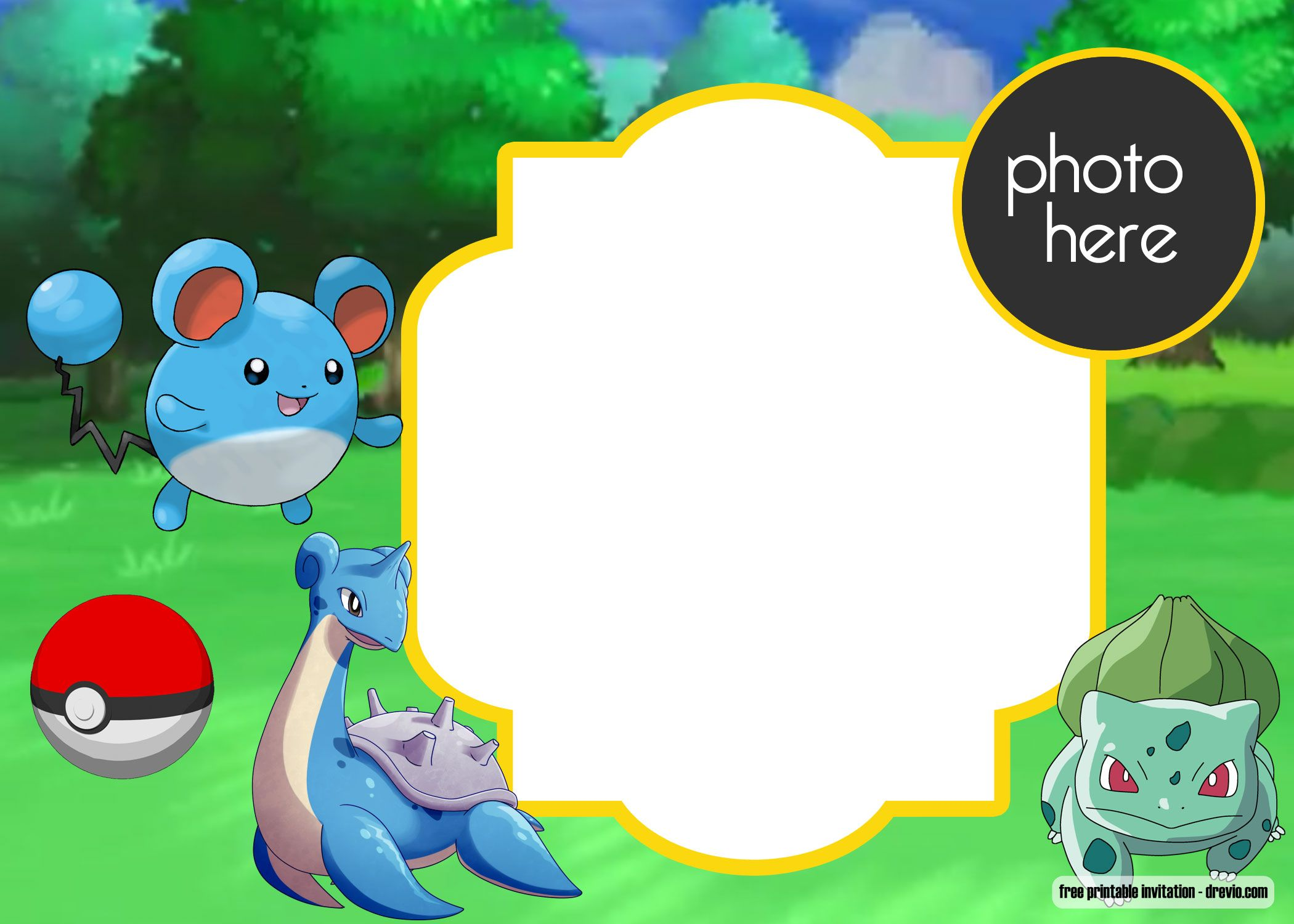 picture about Printable Pokemon Birthday Invitations identified as Free of charge Printable Pokemon Birthday Invitation Absolutely free