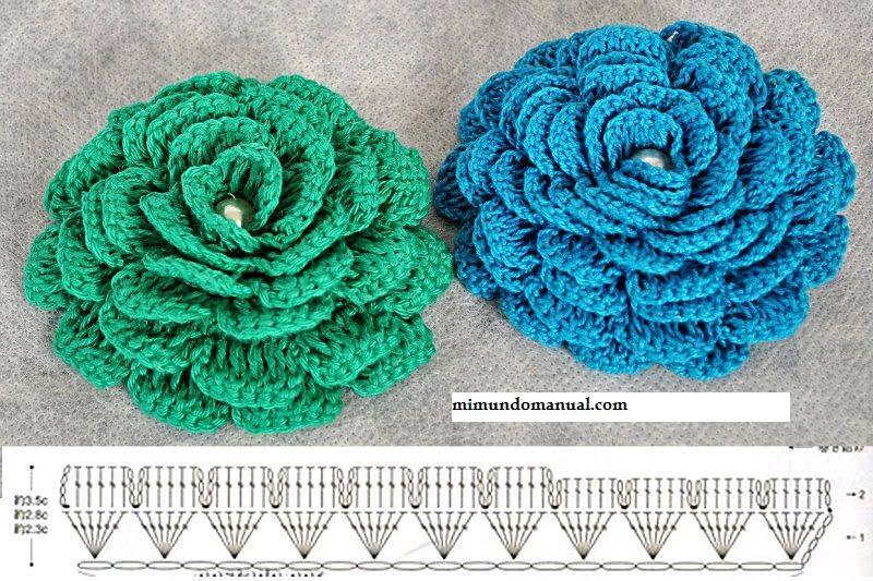 Вязанные цветы крючком схемы и описания фото
