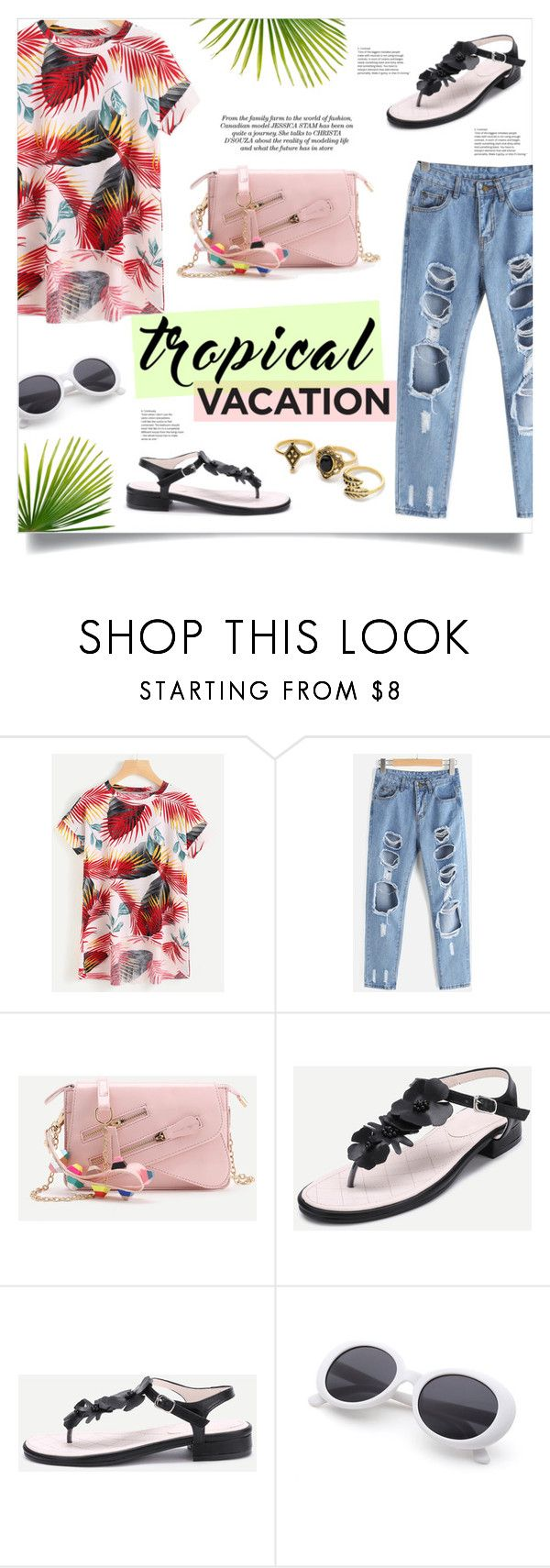 """Tropical Vacation"" by mahafromkailash ❤ liked on Polyvore"