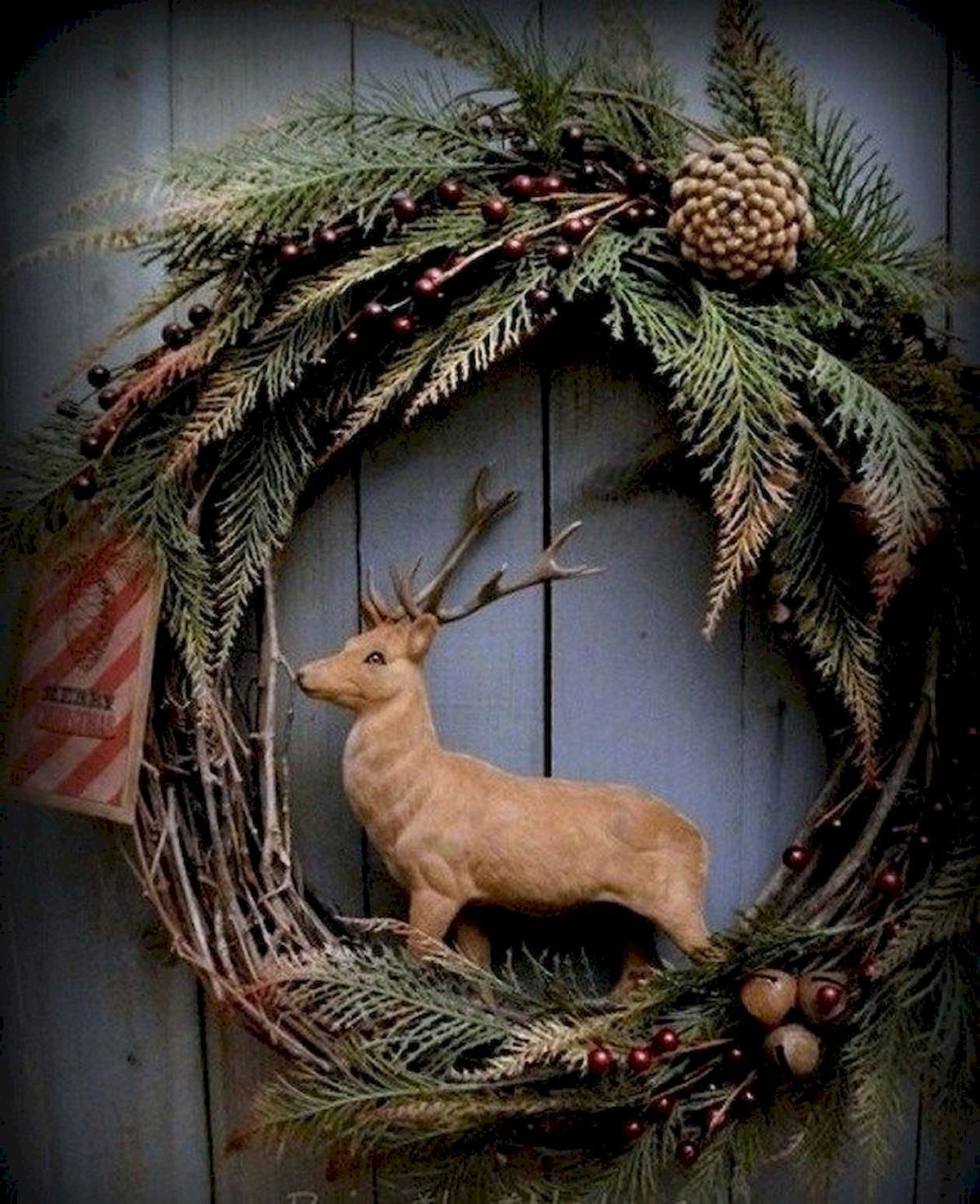 Gorgeous Christmas Wreath Ideas #rustikaleweihnachten