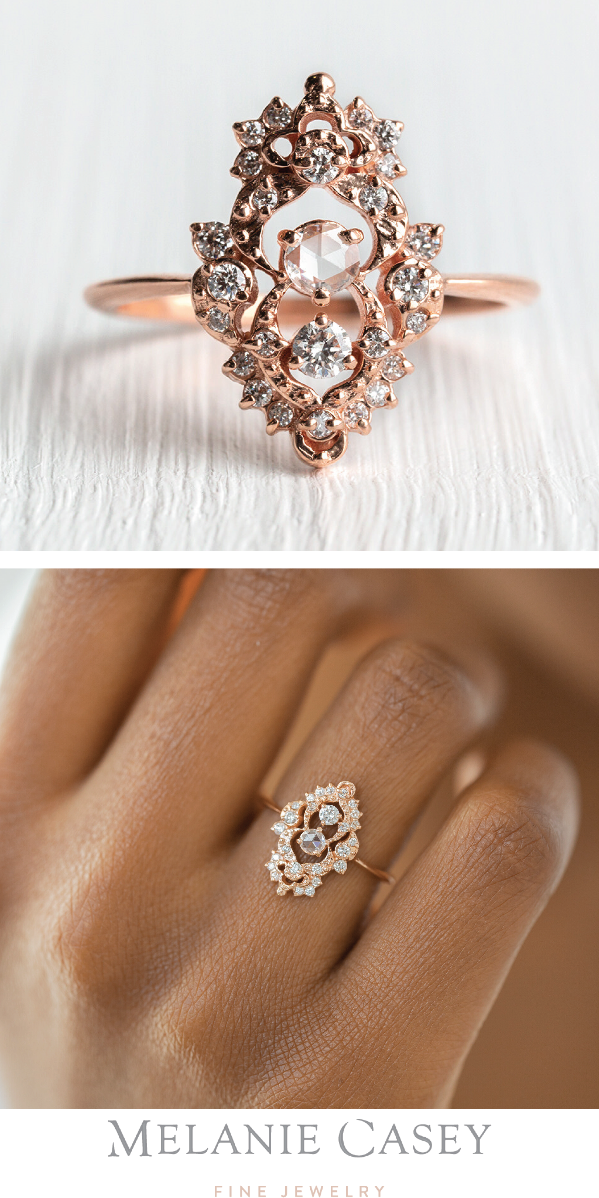 Details about  /Diamond Ring Natural Rose Cut Diamond /& 925 Sterling Silver Handmade Jewelry
