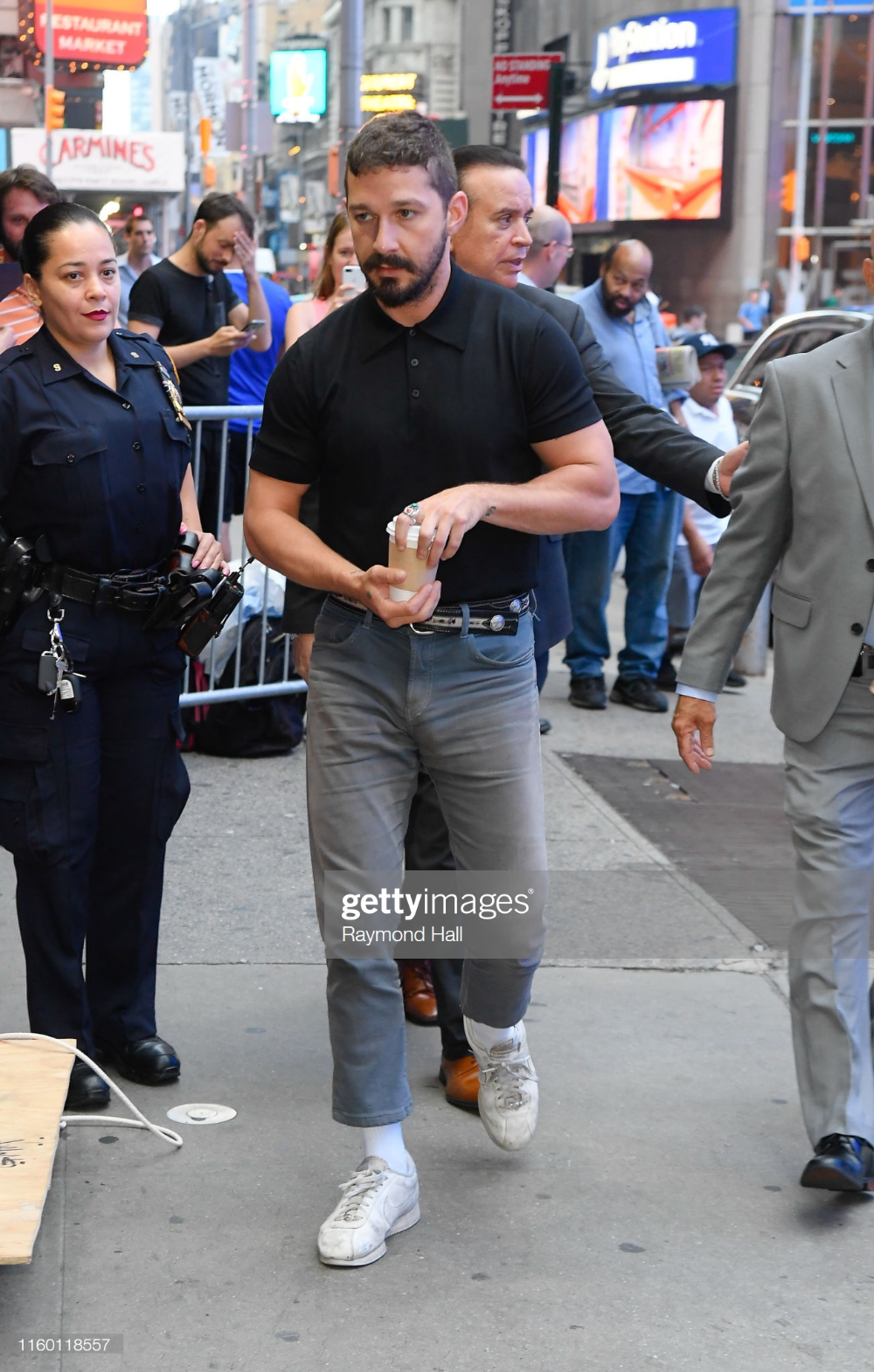 Shia LaBeouf is seen outside Good Morning Americaon August