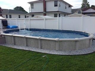 12x24 Semi Inground Pool Swimming Pools Backyard Swimming Pool Hot Tub Homemade Swimming Pools