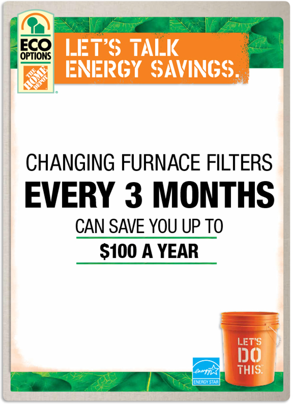 Changing your furnace filters every three months can save