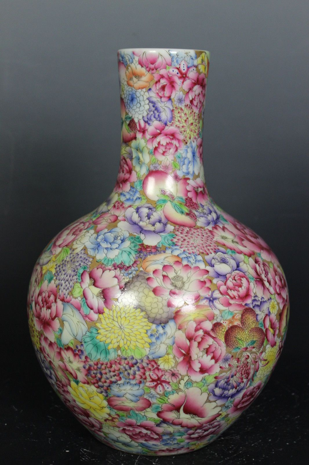 Beautiful Flower Vases Chinese Beautiful Famille Rose Porcelain Large Number
