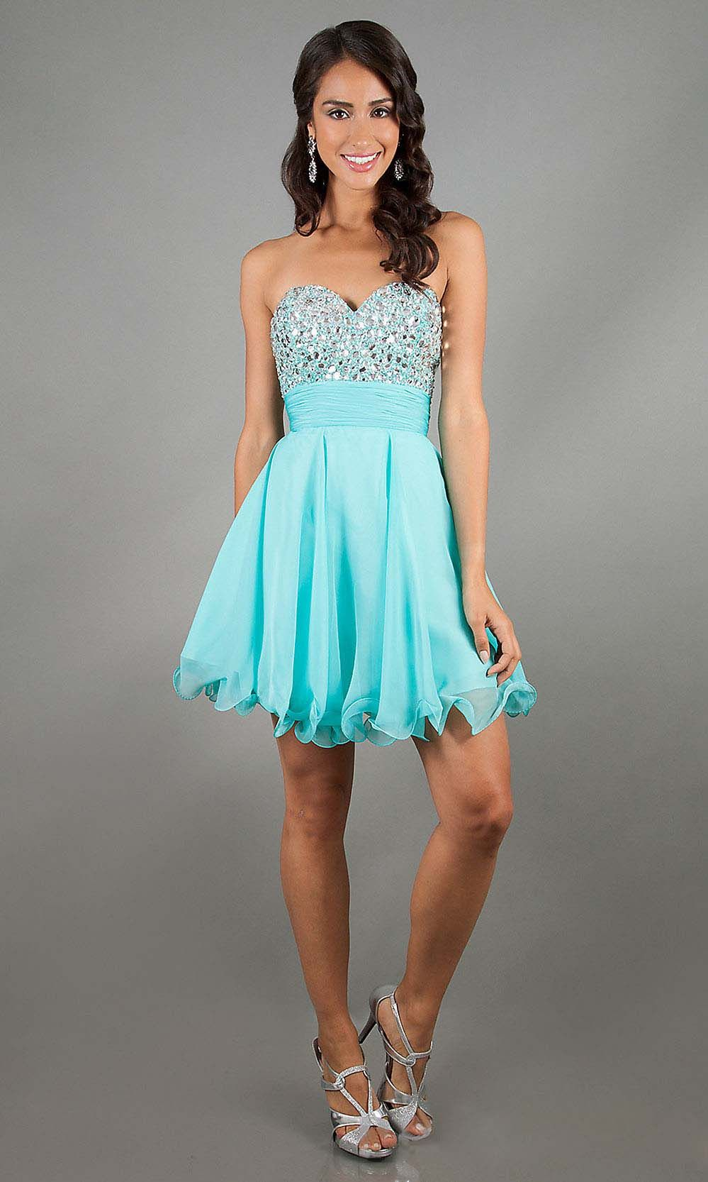 Strapless Beaded Short Prom Dress by Alyce Paris 3558 | Gowns ...