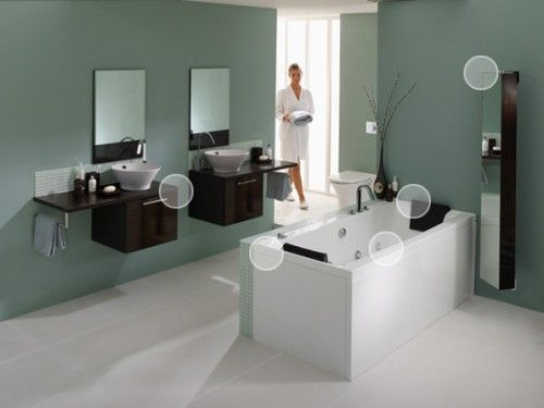spa like bathroom colors wall color floating vanity with vessel sinks for spa 20604