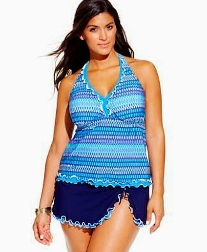 fce525f931 NWT $218 Profile by Gottex Ruffle Skirted Tankini Swimsuit Plus Size  Women's 20W #Profile #Tankini