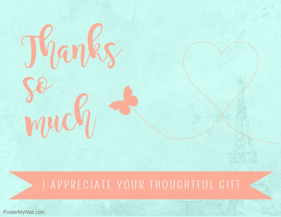 Printable Thank You Greeting Ecard Gift Gift Card Template Card Template Custom Greeting Cards