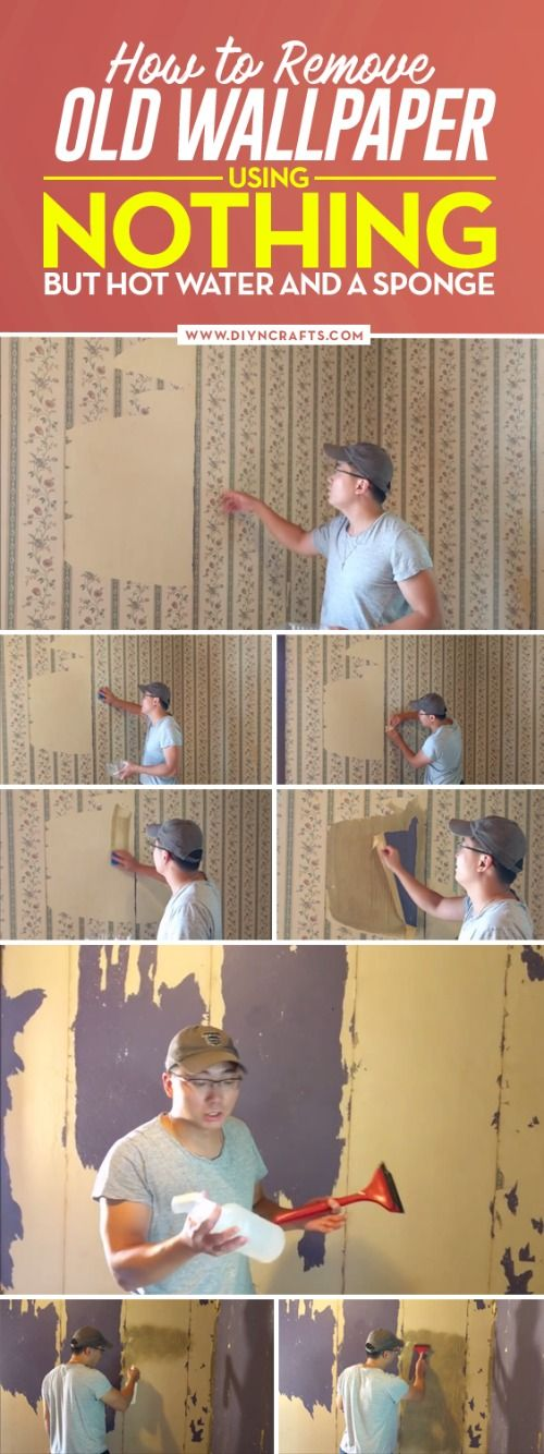 He Rubs Hot Water On His Old Wallpaper U2026 Why? This Is A Genius DIY Hack. |  Wallpaper, Water And Remove Wallpaper