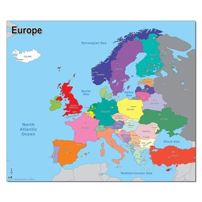 Simple Map Of Europe Europe Map Teaching Resources Primary Europe