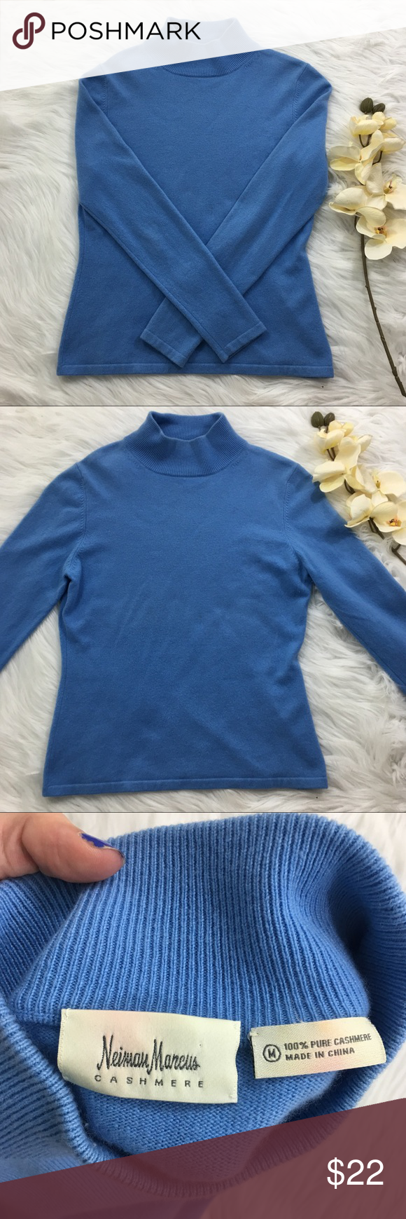 Blue Cashmere Sweater Beautiful cashmere sweater from Neimans ...