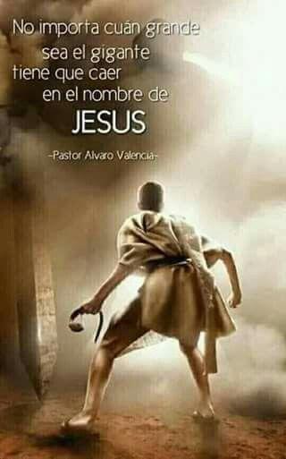 No Importa Quien Sea Tu Gigante Tiene Que Caer En El Nombre De Jesus Esboco De Sermao Sermao Frases