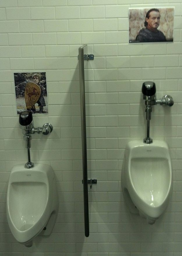 Give Your Office Bathroom A Game Of Thrones Theme.