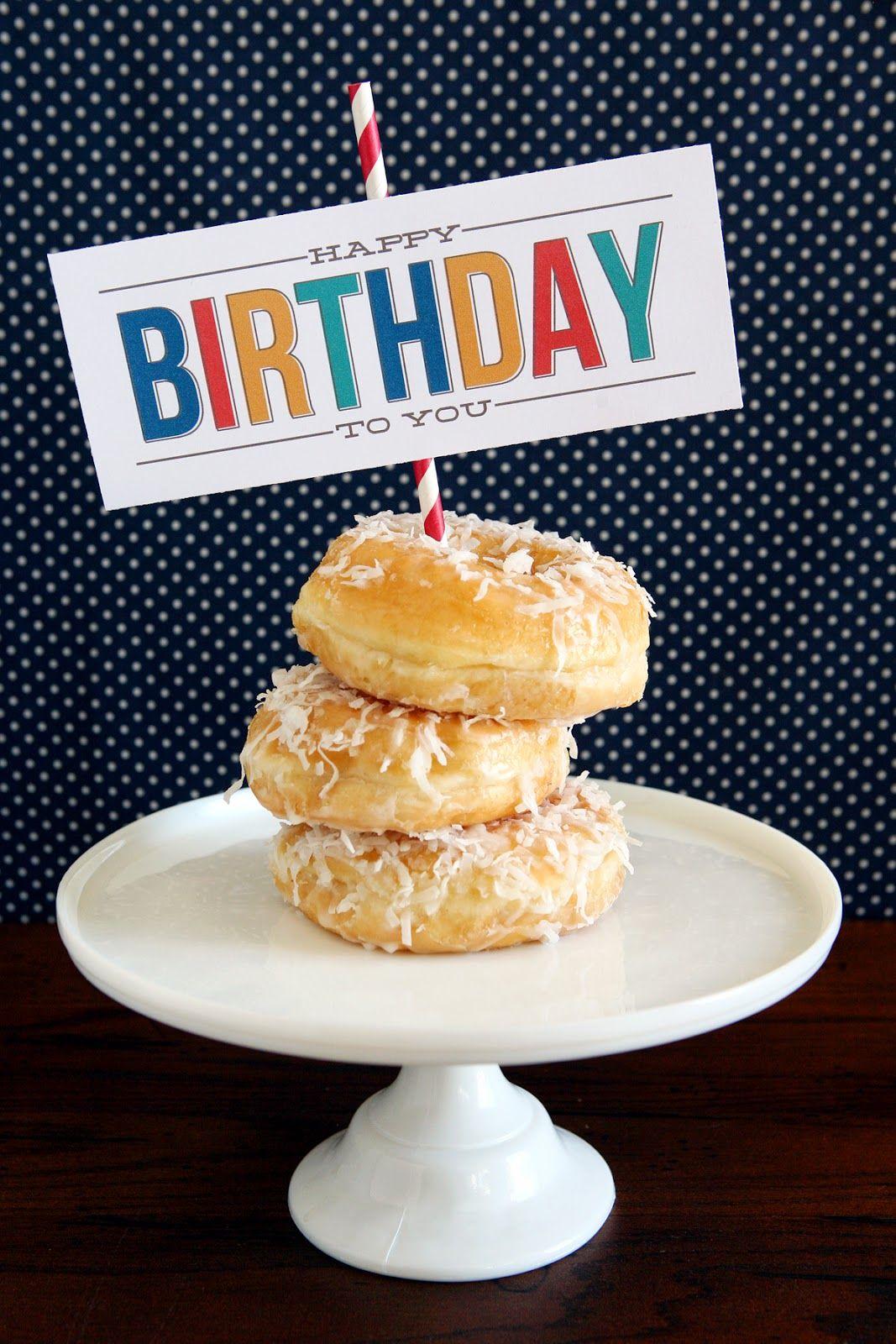Birthday Morning Treats Free Printable