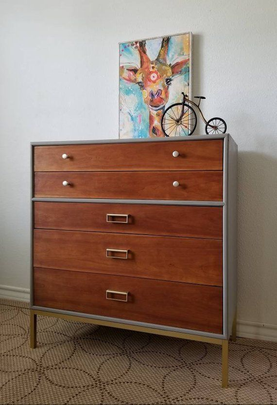 066e19bc47042 SOLD  Vintage Mid Century Kipp Stewart Drexel Sun Coast Collection Dresser Chest   Local Pick Up Only