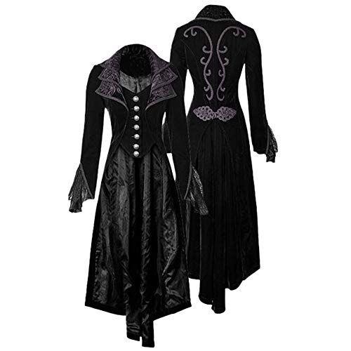 Victorian Train Velvet Embroidered Coat Gothic Lolita Retro corset Punkrave Red