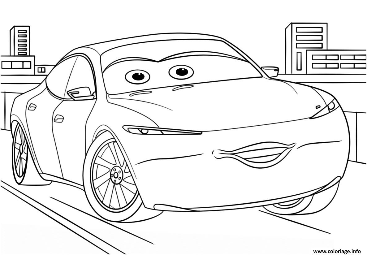 Natalie Certain From Cars 3 Disney Coloriage Disney Coloring