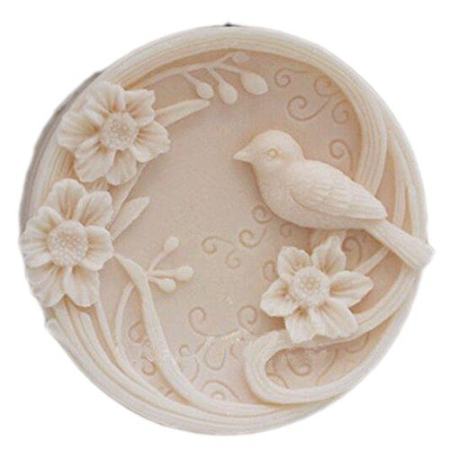 Craft Bird Flower Soap Mold Silicone Soap Making Mould DIY Candle Resin Mold
