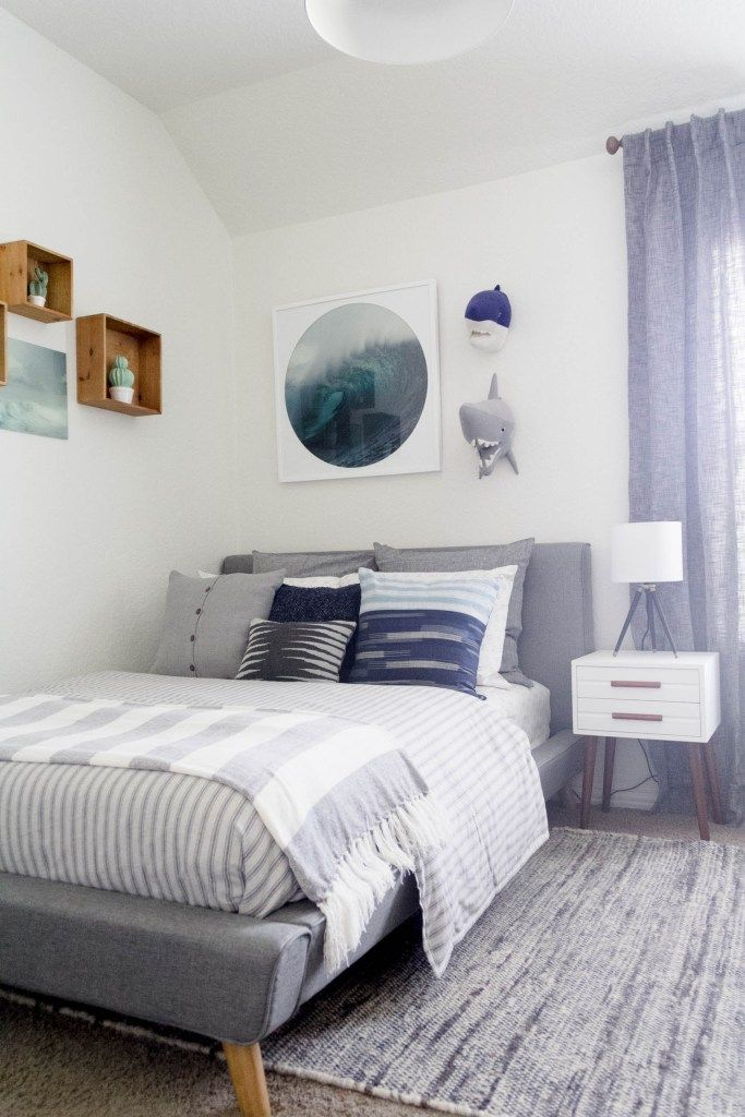 Best Modern Beach Big Boy Bedroom Makeover Reveal Big Boy 400 x 300