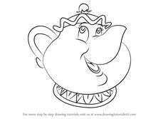 How To Draw Mrs Potts From Beauty And The Beast