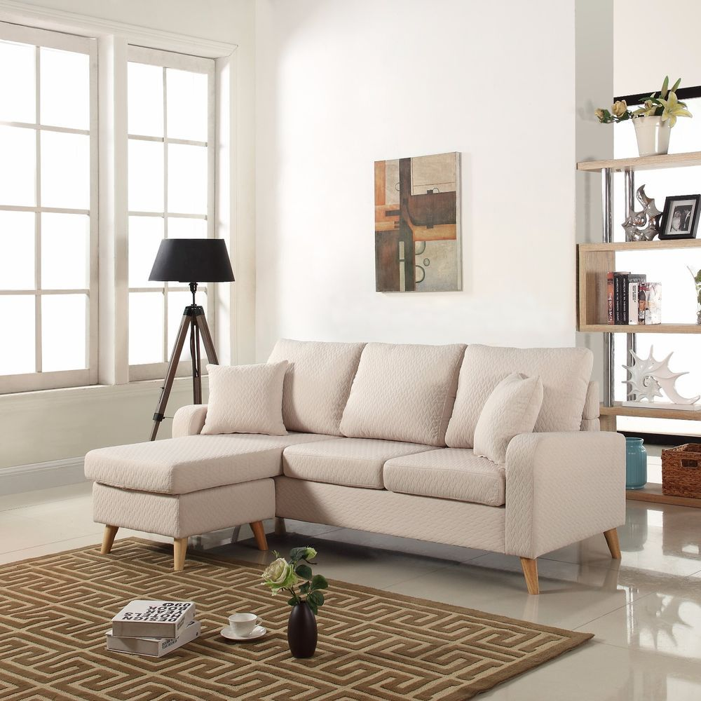 Best Modern Fabric Small Space Sectional Sofa W Reversible 400 x 300