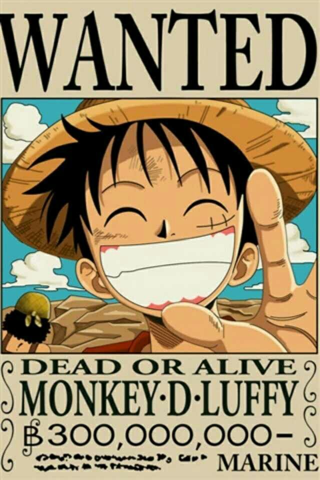 The wallpaper trend is going strong. Monkey d luffy wanted   One piece funny, One piece luffy ...