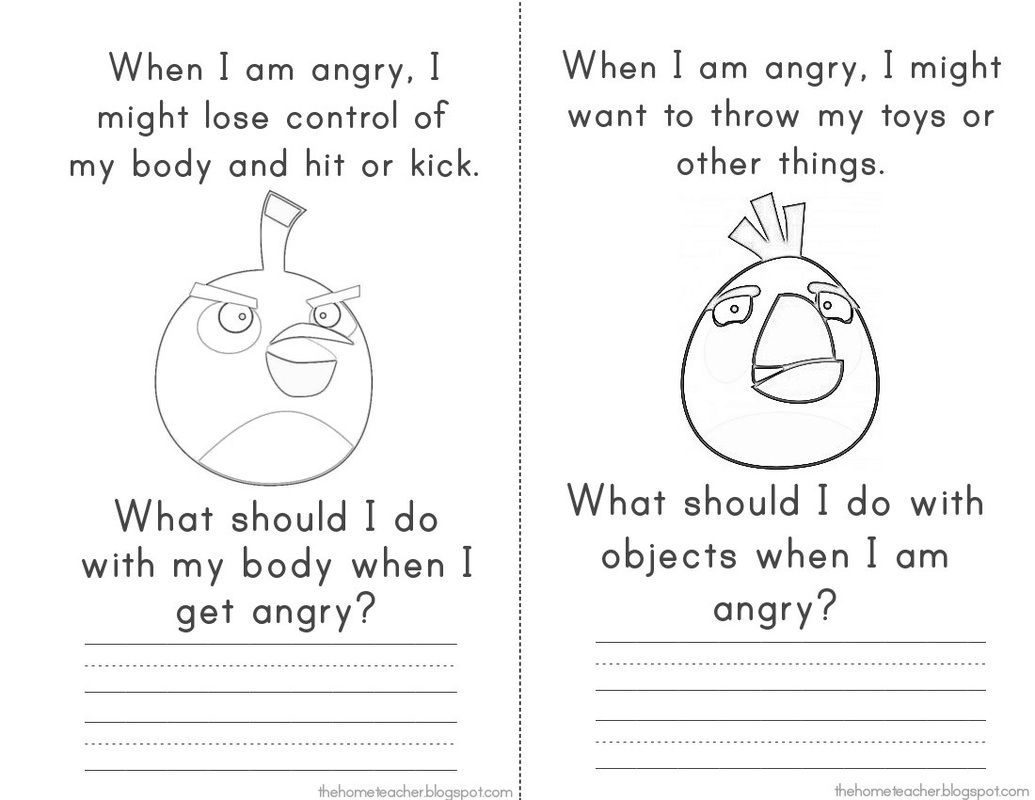 Workbooks anger workbook : Anger Management - Elementary School - Don't Be An Angry Bird ...