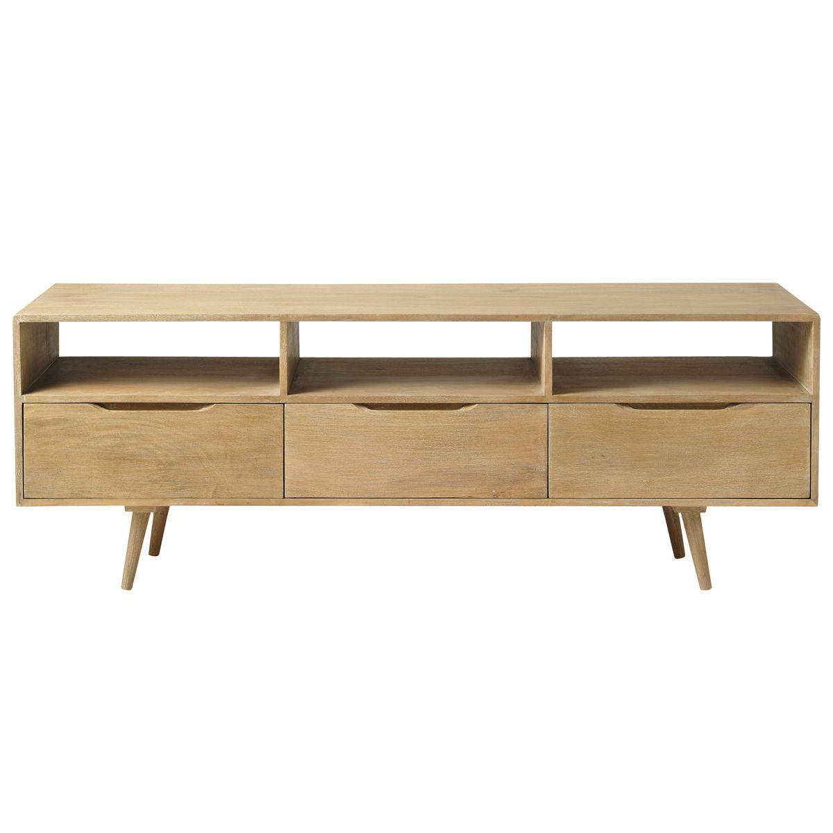 maison du monde meuble tv vintage en manguier trocadero dimensions cm h 60 x l 165 x pr 40 449 90